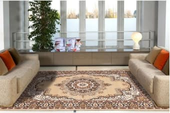 Traditional Pattern Medallion Rug Beige