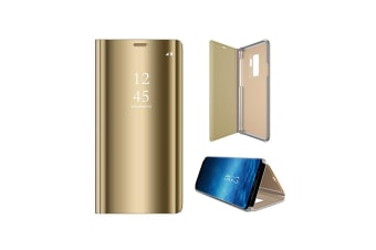 Mirror Case Translucent Flip Full Protection Stand For Samsung Gold Samaung J4(2018)