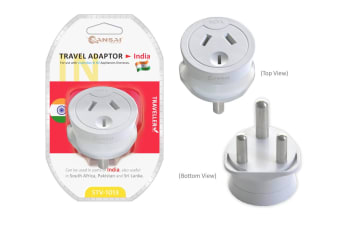 Sansai Travel Adapter - South Africa, India & More (STV-1013)