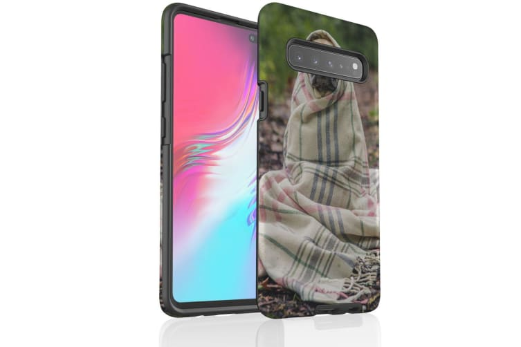For Samsung Galaxy S10 5G Case  Armour Tough Cover  Covered Pug