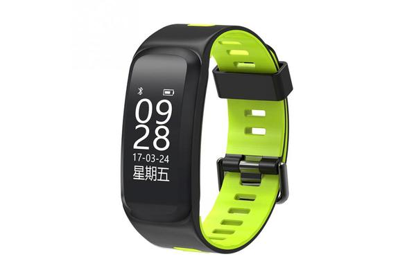 """Bluetooth V4.0 Smart Watch Heart Rate Blood Oxygen Gps Ip68 0.96"""" Oled - Yellow"""