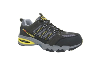 Grafters Mens Nighthawk Fully Composite Non-Metal Safety Trainers (Grey) (3 UK)