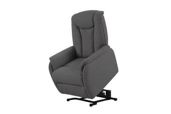 Electric Lift Recliner Chair Fabric Armchair Dark Grey