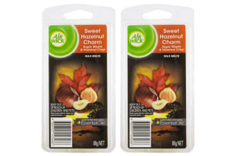 2PK Air Wick Life Scents Wax Melts Sweet Hazelnut Charm 88g Candle Fragrance