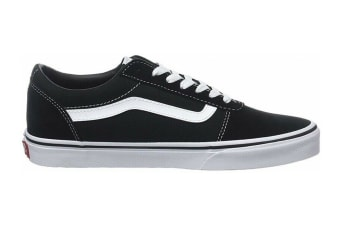 Vans Men's Ward Suede Canvas Shoe (Black/White, Size 10.5 US)