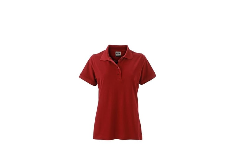 James and Nicholson Womens/Ladies Workwear Polo (Red Wine) (3XL)