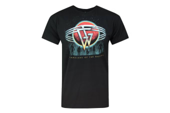 Guardians Of The Galaxy Official Mens Planet T-Shirt (Black)