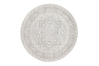 Silver Flower Transitional Rug