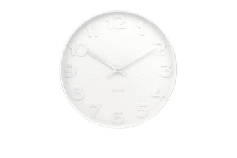 Karlsson Mr White Numbers White Wall Clock Large