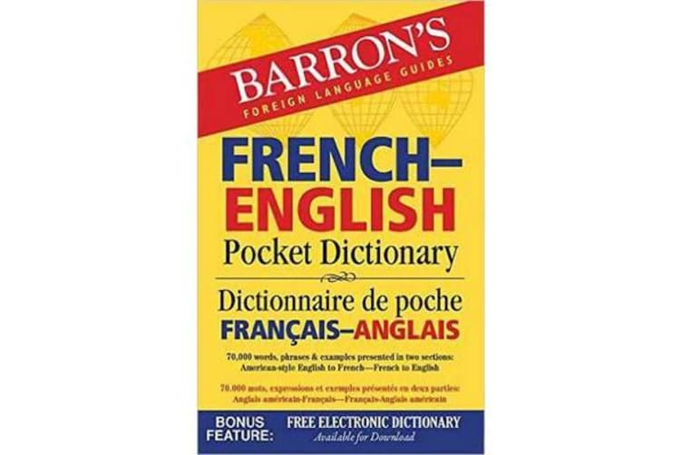 French-English Pocket Dictionary - 70,000 words, phrases & examples
