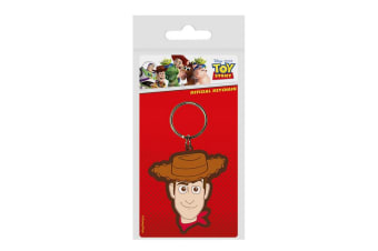 Toy Story 4 Woody Rubber Keyring (Multicoloured) (One Size)
