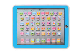 Select Mall Educational Toys Dot Reading Machine English Early Education Machine IPAD Tablet Learning Machine for Children-Blue