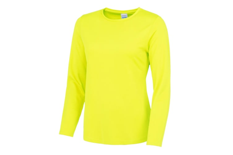 AWDis Just Cool Womens/Ladies Girlie Long Sleeve T-Shirt (Electric Yellow) (M)