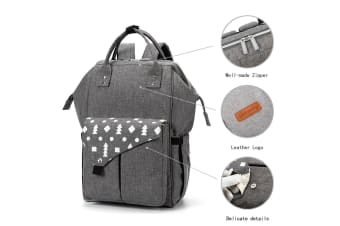 Waterproof Grey Baby Changing Bags Nappy Diaper Backpack