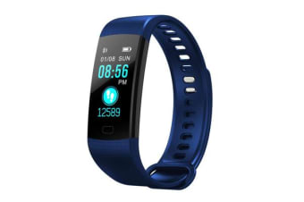 "TODO Bluetooth V4.0 Fitness Band Watch Heart Rate Blood Oxygen Ip67 0.96"" Oled - Navy"