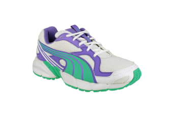 Puma Axis Mesh V2 Lace Up Boys Trainers (Purple/Green)