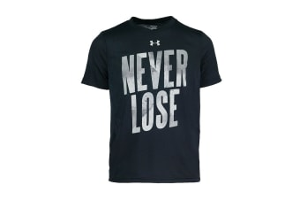 Under Armour Boys' UA Never Lose Graphic T-Shirt (Black/Grey)