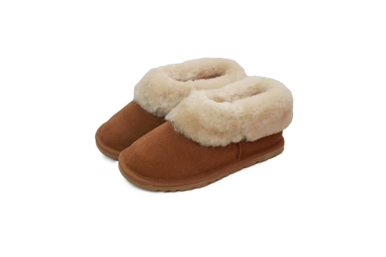Eastern Counties Leather Womens/Ladies Sheepskin Lined Slipper Boots (Chestnut) (5 UK)