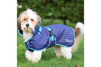 Woofmasta Deluxe Dog Coat (Blue Space Dye)