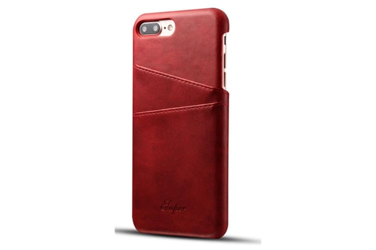 Leather Snap On Cover Case For iPhone 2 Card Holder Slots  SamSungNote 8