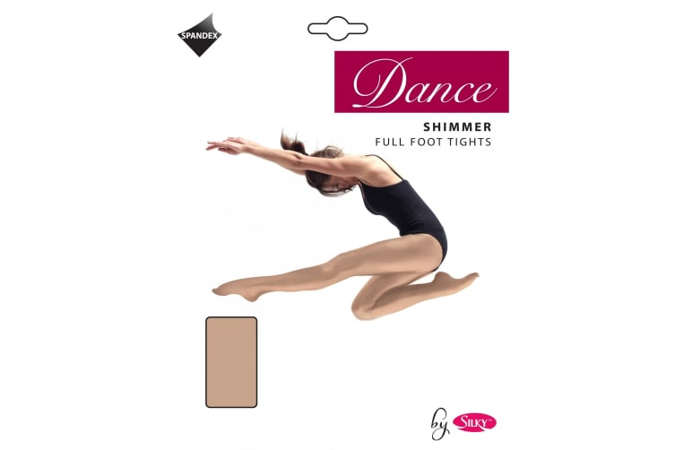 Silky Girls Dance Shimmer Full Foot Tights (1 Pair) (Light Toast) (7-9 Years)