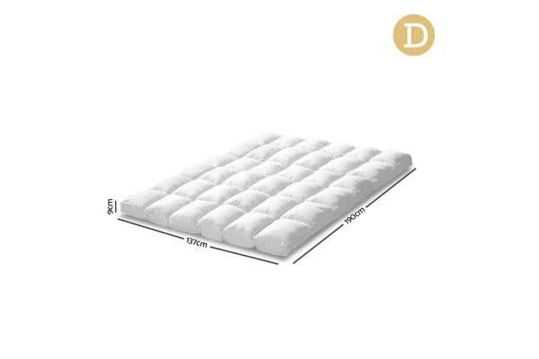 Double Size Duck Feather Down Mattress Topper