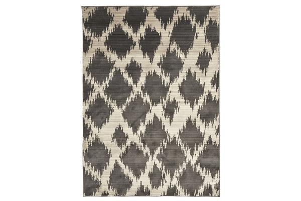 Morrocan Diamond Design Rug Charcoal 230x160cm