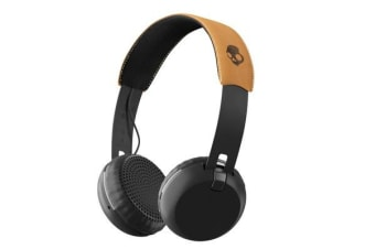 SkullCandy Grind Wireless On-Ear Headphones - Black/Tan