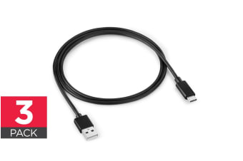 1m USB-A to USB-C Cable (3 Pack)