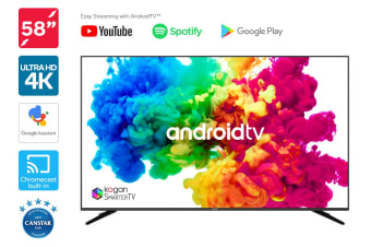 "Kogan 58"" XU9010 4K LED SmarterTV™ (Android TV™, Smart TV)"