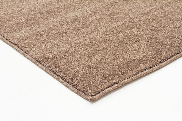 Dense Plain Stone Coloured Rug 400x80cm