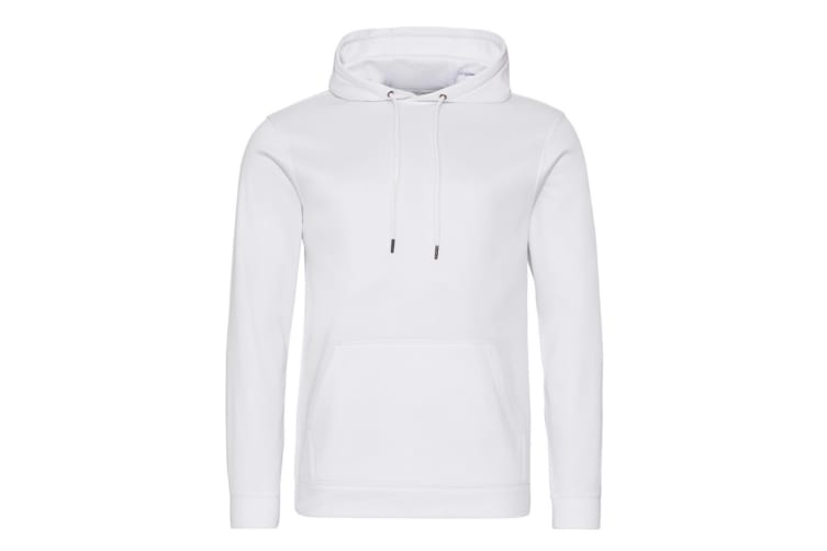 AWDis Adults Unisex Polyester Sports Hoodie (Arctic White) (L)