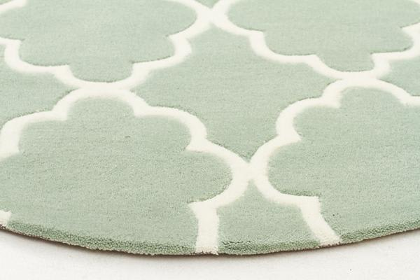 Kids Trellis Design Rug Sea Foam Green 120x120cm