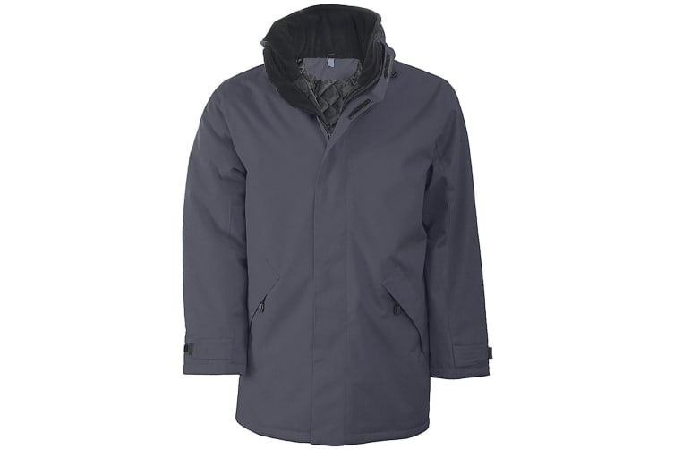 Kariban Mens Parka Performance Jacket (Convoy Grey) (M)