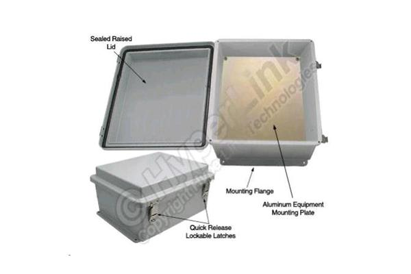 HyperLink Technologies NB141207-KIT 14x12x7 Inch Weatherproof NEMA IP66 Enclosure