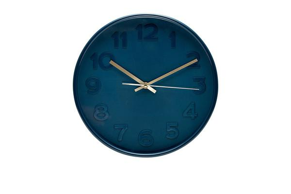 Salt & Pepper Felix Clock Indigo 30cm