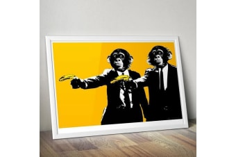 Pulp Fiction Monkeys Wall Poster 91 x 61cm – Banana Guns Tarantino Parody Monkeys