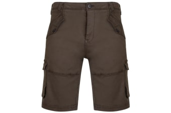 Kam Jeanswear Mens Stretch Cargo Shorts (Khaki)