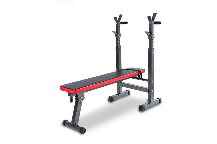 Adjustable Weight Bench Fitness Home Multi Gym Flat Press Incline Squat Rack