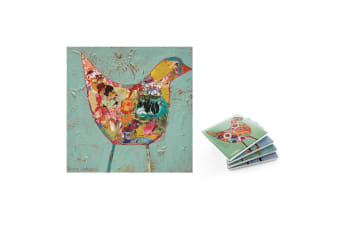 ThirstyStone Birdies Assorted 4pc Coasters Set & 1pc The Chase Trivet Combo Pack