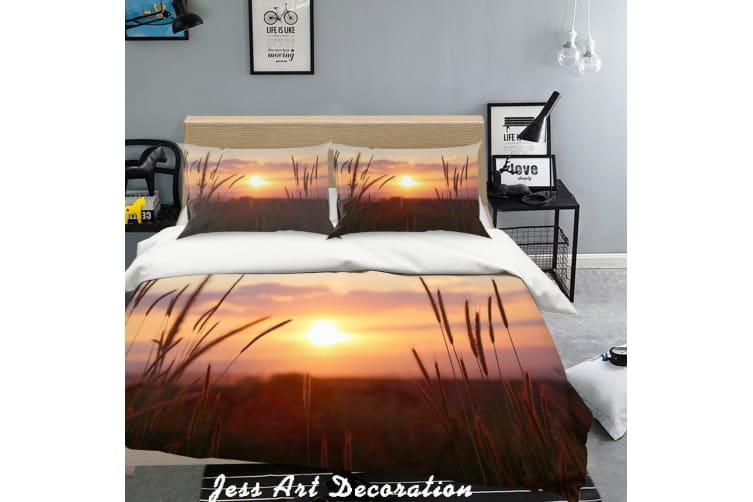 3D Sunset Scenery Quilt Cover Set Bedding Set Pillowcases  217-King