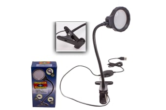 5X MAGNIFYING LAMP LED LIGHT ILLUMINATED MAGNIFIER BEAUTY DESK MOUNT X4201 NEW