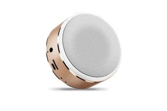Mini Bluetooth Speaker Intelligent Portable Bass Cannon Wireless Speaker Gold