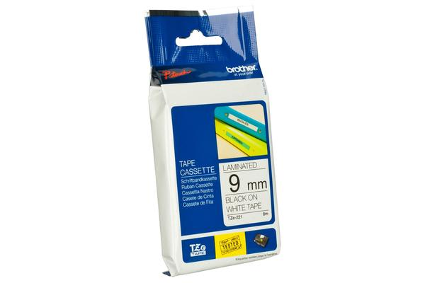 Brother Tape Consumable PTouch 9mm Black on White TZe Tape