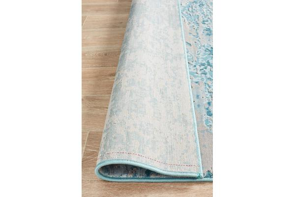 Landon Blue & Cream Vintage Look Rug 330x240cm
