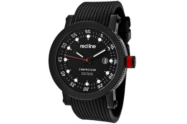 Red Line Men's Compressor Black Dial Black Silicone (RL-18000-01-BB)