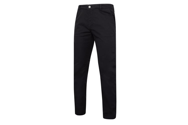 Asquith & Fox Mens Slim Fit Cotton Chino Trousers (Black) (MT)