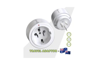 Sansai International Travel Adaptor AU NZ Power Plug Outlet White