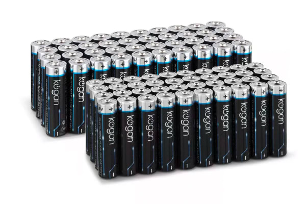 80 Pack Kogan QuantuMAX Mixed Alkaline Batteries (40 x AA + 40 x AAA)