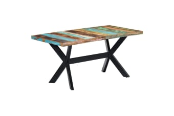 vidaXL Dining Table 160x80x75 cm Solid Reclaimed Wood